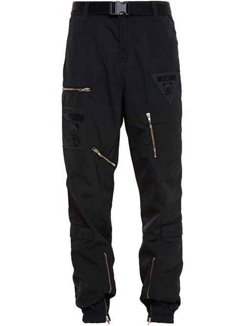 Nylon Multi Zip Jogger Pants by Moschino in Empire - Season 2 Episode 1