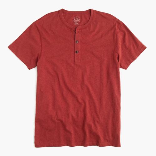 Slim Broken-In Short-Sleeve Henley Shirt by J.Crew in Pretty Little Liars - Season 6 Episode 12