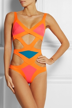Mazzy Popstar Cutout Swimsuit by Agent Provocateur in Empire