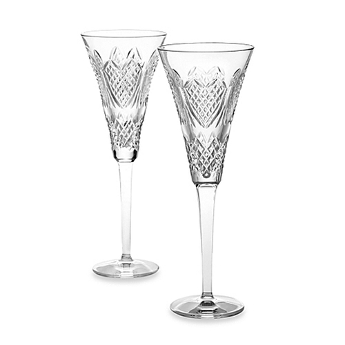 Wedding Heirloom Champagne Flutes Glass by Waterford in The Hunger Games: Mockingjay - Part 2
