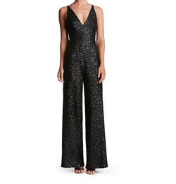 Charlie Sequin Jumpsuit by Dress the Population in Pitch Perfect 3