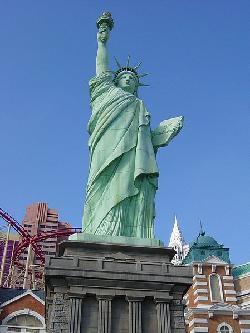 Las Vegas, Nevada by Replica of the Statue of Liberty in Godzilla