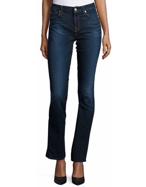 Kimmie Straight Slim Illusion Jeans by 7 For All Mankind in The Bourne Legacy