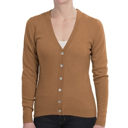 V-Neck Cashmere Cardigan Sweater by Brodie in Sleeping with Other People