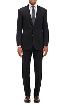 Glen Plaid Two-Button Anthony Suit by Ralph Lauren Black Label in Billions