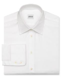 Solid Oxford Dress Shirt by Armani Collezioni in Empire