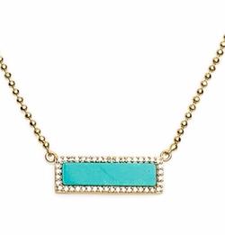 Bar Pendant Necklace by Melanie Auld in Arrow