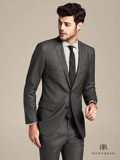Monogram Charcoal Suit by Banana Republic in A Most Violent Year