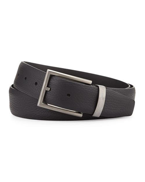 Grain Leather Belt by Giorgio Armani in No Strings Attached