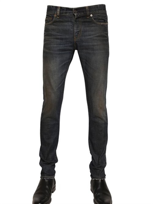 Skinny Fit Stretch Denim Jeans by Saint Laurent in Sex and the City 2
