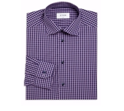 Slim-Fit Cotton Dress Shirt by Eton of Sweden in Scream Queens