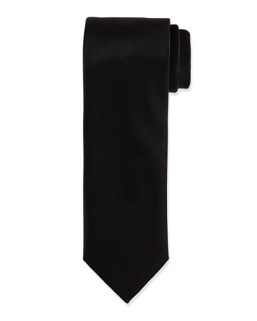 Solid Silk Satin Tie by Brioni in The Matrix