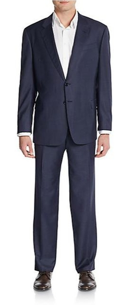 Regular-Fit Windowpane Wool Suit by Armani Collezioni in Billions