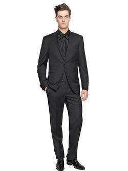 Super 130s Wool Ribbed Tuxedo Suit by Corneliani in John Wick