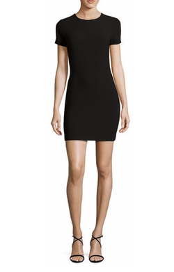 Fitted Short-Sleeve Mini Dress by Likely Manhattan in Riverdale