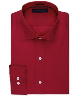 Solid Poplin Dress Shirt by Tommy Hilfiger in Only God Forgives