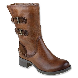 Earth Hemlock Almond Tumbled Leather Boots by Shoes.com in The Visit