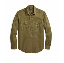 Linen Utility Shirt by Polo Ralph Lauren in The Ranch