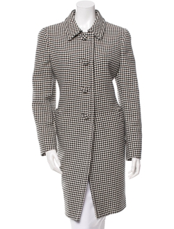Houndstooth Patterned Wool Coat by Prada in Keeping Up With The Kardashians