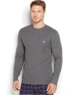 Thermal Crew-Neck Shirt by Polo Ralph Lauren in Barely Lethal