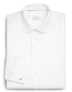 French Cuff Twill Dress Shirt by Eton of Sweden in Ant-Man