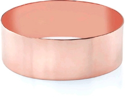 Rose Gold Flat Bangle Bracelet by Apples of Gold in The Man from U.N.C.L.E.