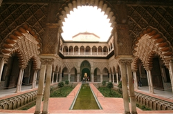 Patio de Banderas, Sevilla by Royal Alcázar of Seville (Depicted as Water Palaces of Dorne) in Game of Thrones