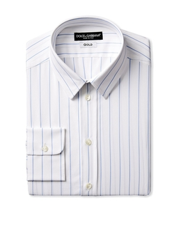 Wide Stripe Dress Shirt by Dolce & Gabbana in Black Mass