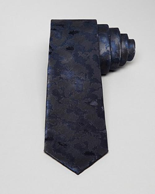 Multi Camo Skinny Tie by Lanvin in Lucy