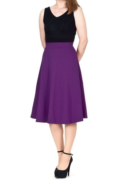 Everyday High Waist A-Line Skirt by Dani's Choice in The Good Place - Season 1 Episode 3