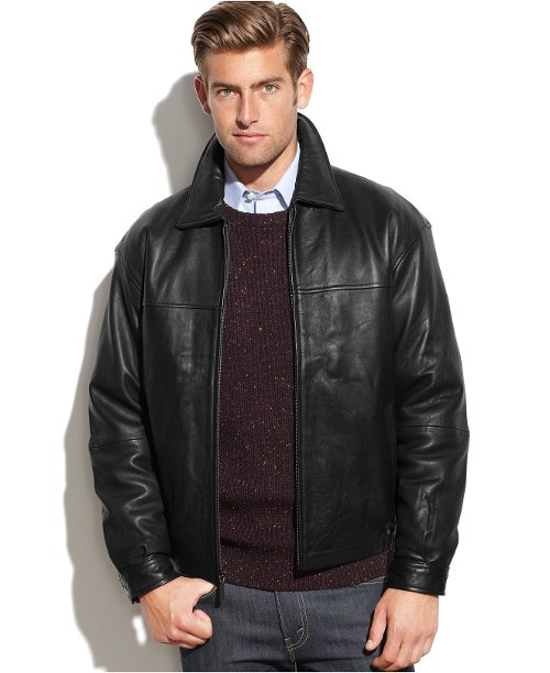 Leather Wind-Resistant Bomber Jacket by Boston Harbour in John Wick