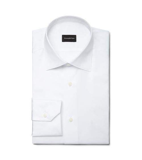 White Point Collar Shirt by Ermenegildo Zegna in Suits - Season 5 Episode 2