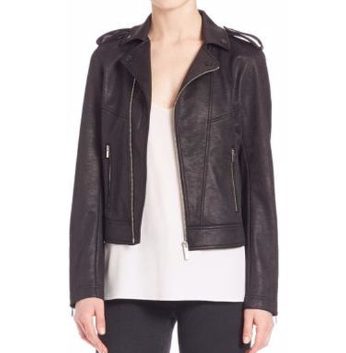 Leather Effect Biker Jacket by The Kooples in Power Rangers