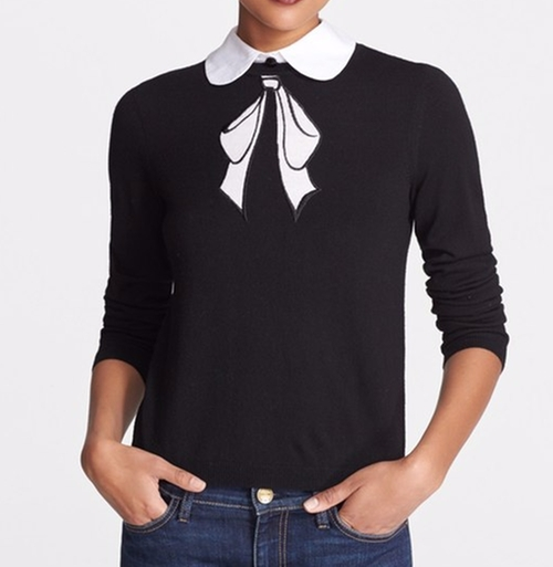 Bow Embroidered Sweater by Alice + Olivia in Pretty Little Liars - Season 7 Episode 10