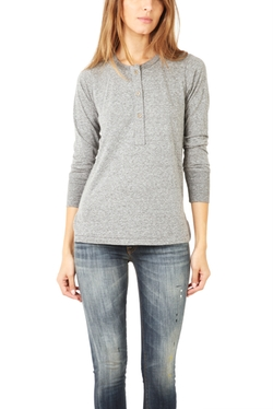Henley Shirt by Current/Elliott in Secret in Their Eyes