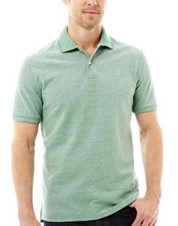 Legacy Oxford Piqué Polo Shirt by St. John's Bay in She's The Man
