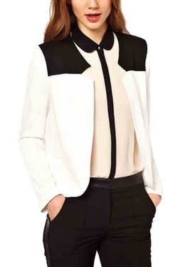 Color Block Open Front Blazer by Maykool in The Good Wife