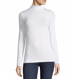Soft Touch Turtleneck Top by Majestic Paris for Neiman Marcus in Power