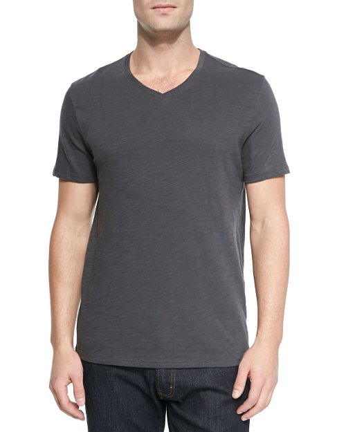 Basic Slub V-Neck T-Shirt by Vince in That Awkward Moment