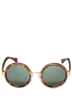 Round Frame Sunglasses by Linda Farrow X Dries Van Noten in The Blacklist