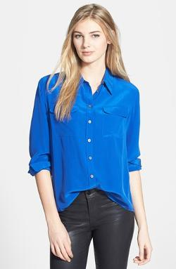 Silk Utility Blouse by Two by Vince Camuto in About Last Night