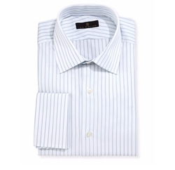 Gold Label Striped Dress Shirt by Ike Behar in Going In Style