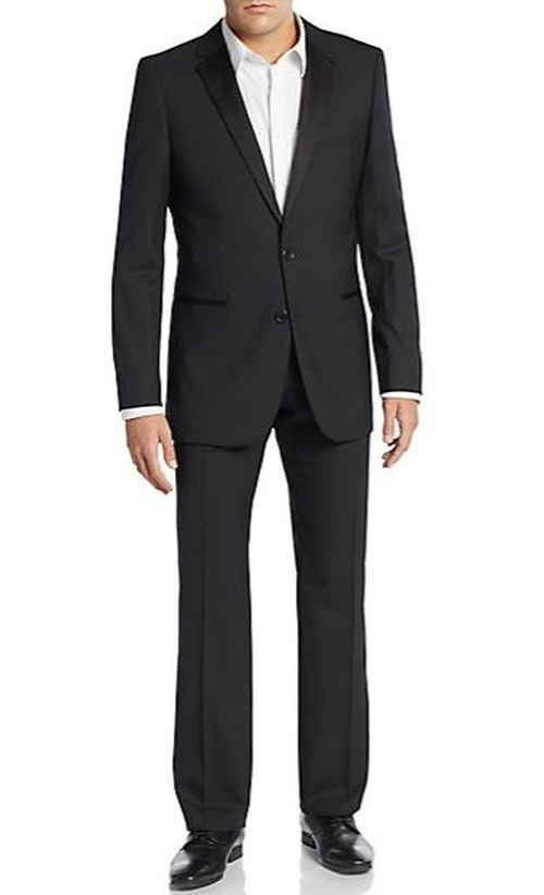 Regular-Fit Virgin Wool-Blend Tuxedo Suit by Hugo Hugo Boss  in Barbershop: The Next Cut