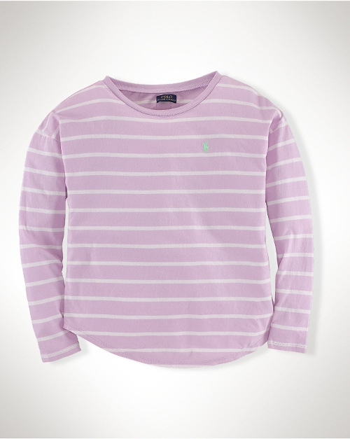 Striped Cotton Tee by Ralph Lauren in Self/Less