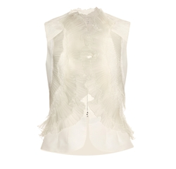 Ruffled & Pleated Silk-Faille Top by Oscar De La Renta in Girls Trip
