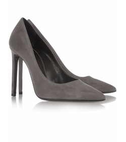 Paris Suede Pumps by Saint Laurent in Suits