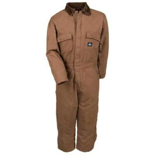Boys' Cotton Duck Insulated Double Knee Coveralls by Polar King in Get On Up