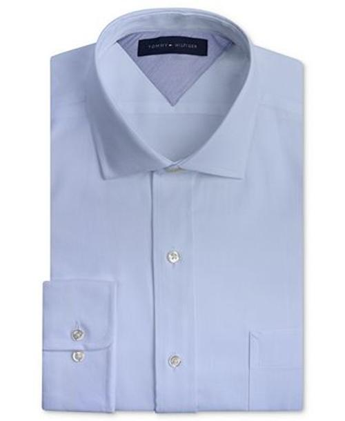 Slim-Fit Textured Solid Dress Shirt by Tommy Hilfiger in Neighbors