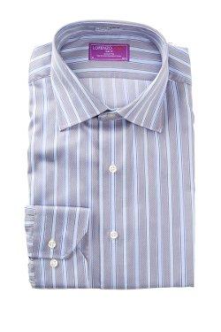 Striped Trim Fit Dress Shirt by Lorenzo Uomo in McFarland, USA