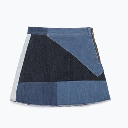Patchwork Miniskirt by Zara in Empire - Season 2 Episode 5